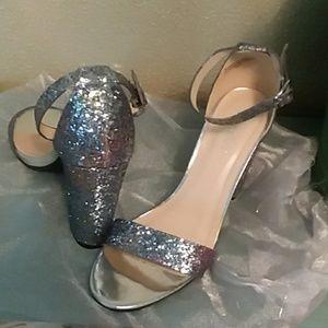 Rainbow glitter heels